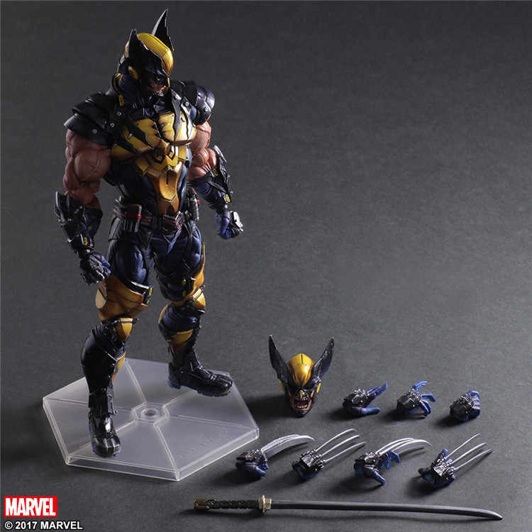 Gioca Arts Kai X men Logan Wolverine Action PVC Figure Da Collezione Model Toy 26 cm