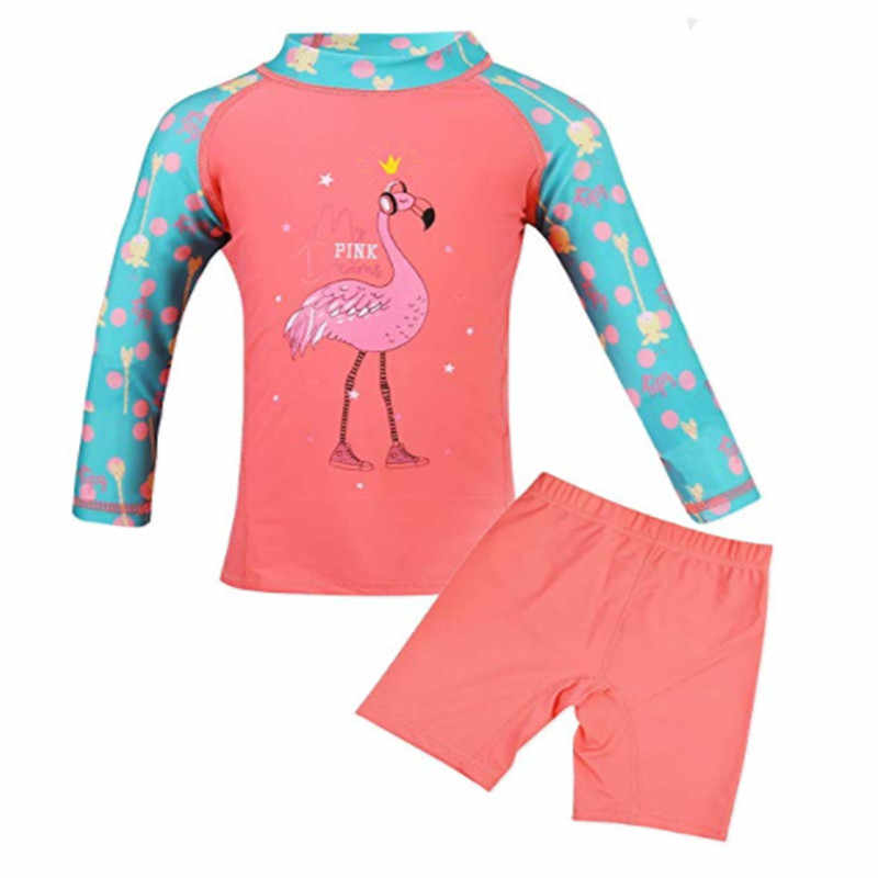 18f0819f3a 2-12 Yrs Girl Bathing Suit Swimwear Kids Beachwear Toddler Swimsuit Girls  Two-Piece
