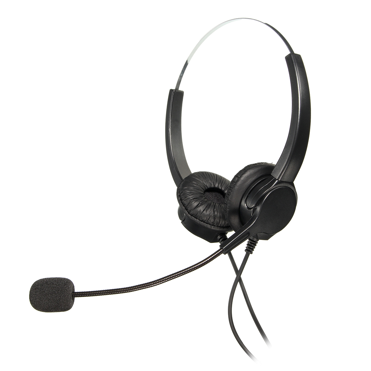 High Quality Call Center Binaural Headphones With Microphone Telephone Corded Headset Headphone Noise Cancelling Handsfree
