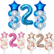 2 Years Old happy birthday Balloons Banner kits 2th Birthday Party Decorations Boy Girl Year Supplies I Am two