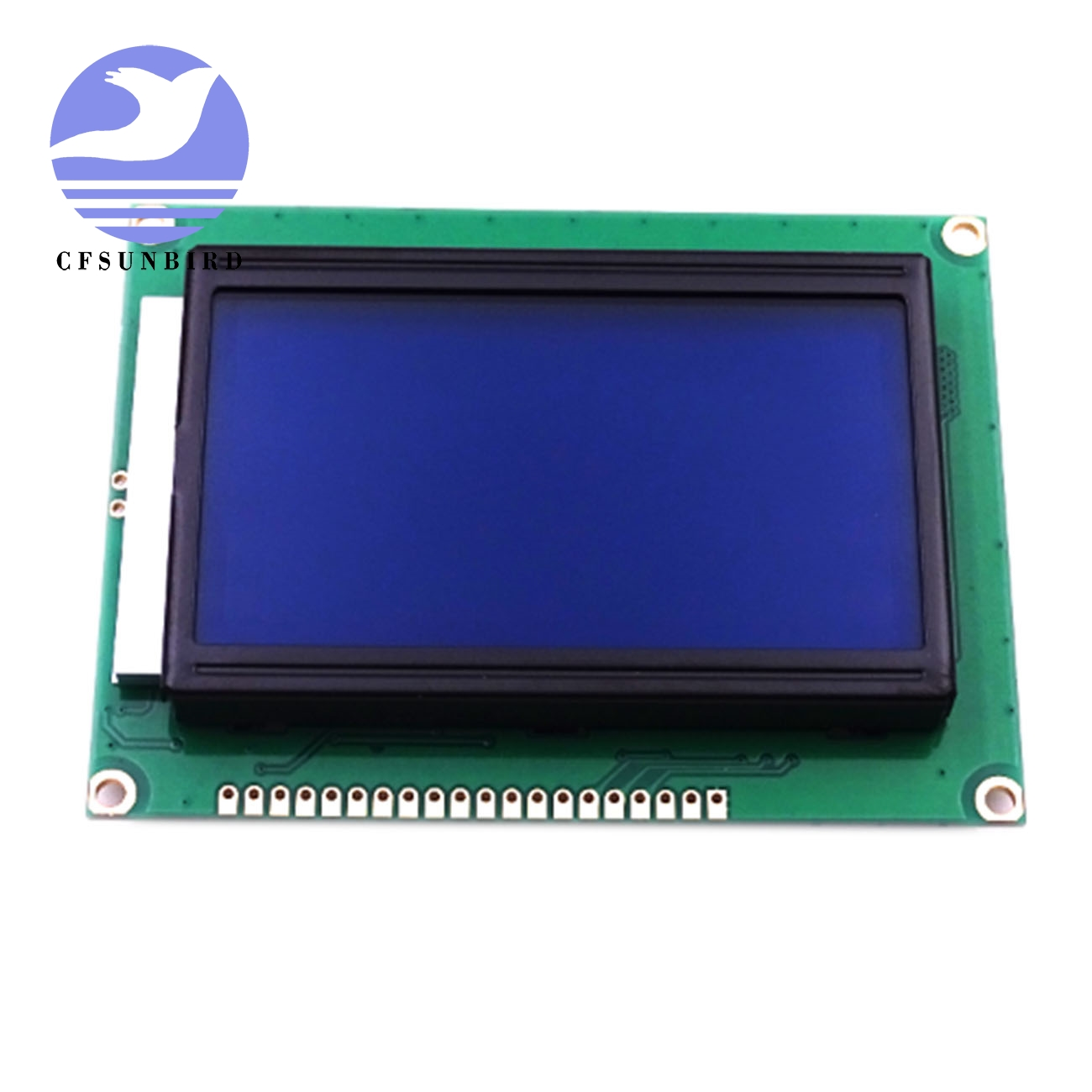 5pcs//lot 12864 dots LCD Module 5v Blue Screen 12864 LCD with Backlight st7920 Parallel Port