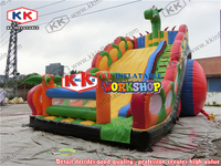 Fun dragon children's playground Adventure giant slide Climb inflatable slides