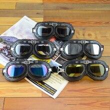Capacete da Motocicleta Óculos de Steampunk Cobre Voando Óculos de Proteção Óculos de proteção Motociclista Piloto Do Vintage Óculos de Proteção Óculos de Proteção Engrenagem