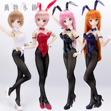 Accept custom New Black/Red/Navy Blue/white Sexy Tights Leather Bunny Girl Suit(5pcs) For 1/3 1/4 BJD SD DD MSD Clothes