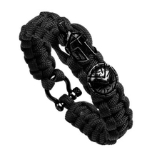 Открытый выживания мужчин браслет Спартанский шлем зонт для воинов Веревка Браслеты Pulseira роскошный ручной работы веревка дамы браслет подарок