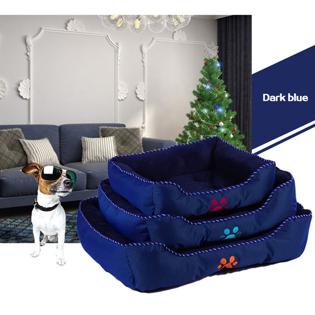 New Arrival Cotton Dog Cat Bed House Pet Dog Cat Soft Sofa Mats Lovely Pets Products Large Size Animal Home