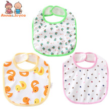 Anna & Joyce 50pc/lot Baby Bib Printing Cotton Waterproof
