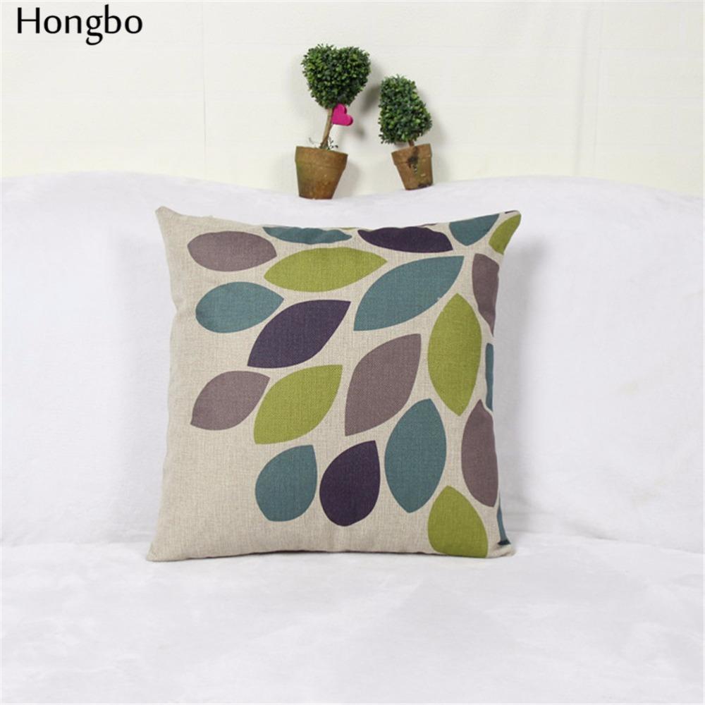 Hongbo Blatt Sofa Kissenbezge Herbst Dekorative Kissen Deckt Baum Bltter Schlafzimmer FllenChina