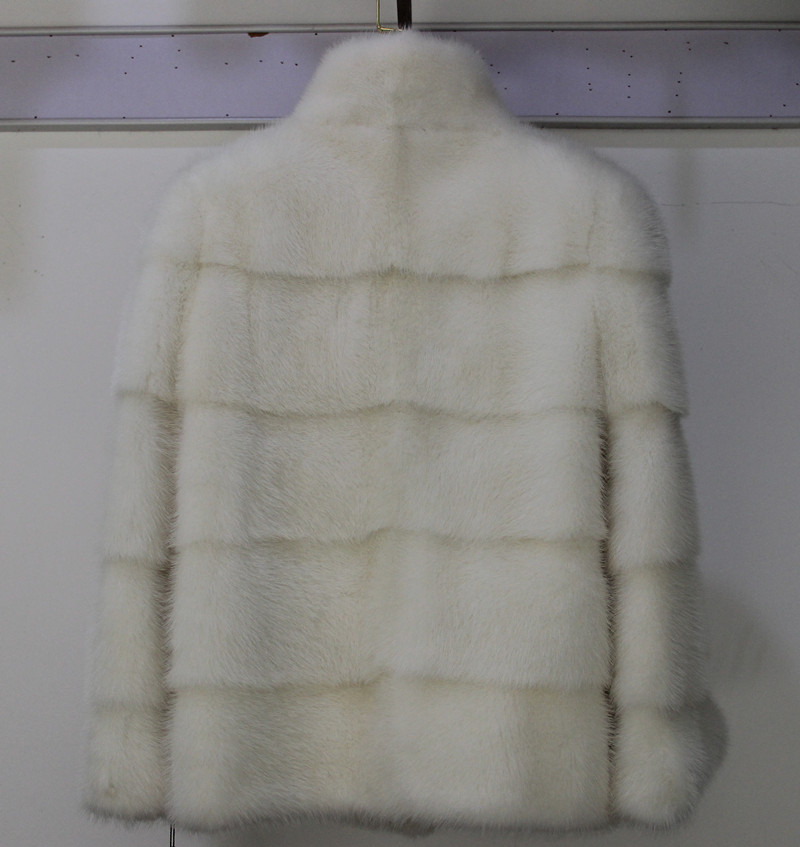Whole Mink  Real Fur Regular Medium Slim Women Coat  Autumn Winter Regular  Popular  Real Mink Fur Jacket