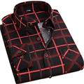Men's Long Sleeve Plaid Shirts High Quality Super Soft Fabric Spring& Autumn Men Fashion Clothes Social Shirt For Men