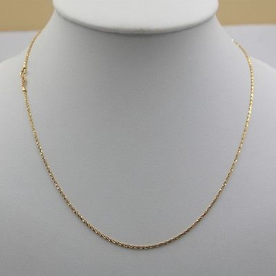 New Real Au750 18K Yellow Gold Chain Women Full Star Link Necklace 2-2.5g 2