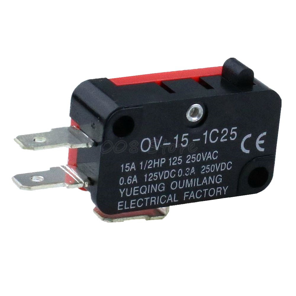 1 V-15-1C25 15A 250V/125V AC SPDT Momentary Snap Action Micro Limit Button Switch(China)