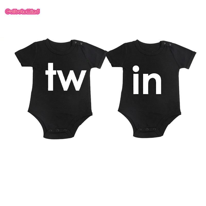 Twin pour bébé T-shirt Copiez et collez Enfants T Shirt Set Cadeau