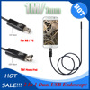 New 2In1 Snake Endoscope 1M 3 3FT 7mm 6 LEDs Waterproof Borescope Micro USB Inspection Video