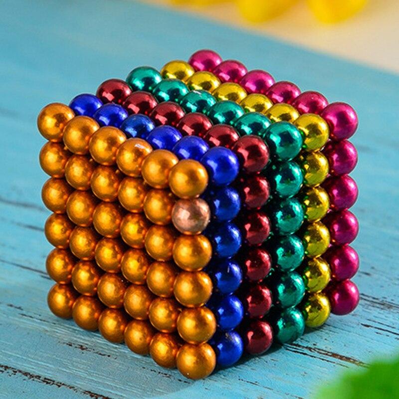 5mm 216 pz Cubi Magnetici Cubo Neo balls Puzzle Magico Blocco per Bambino Giocattoli Educativi magnete al neodimio