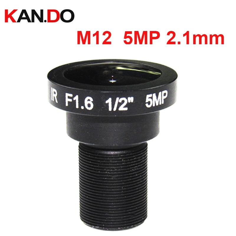 Fisheye M12 1/2 Fisheye Lens 2.1mm CCTV Camera Lens HD 5.0Megapixel F1.6 M12 Mount Fixed Iris Wide Viewing Angle 180 Degree