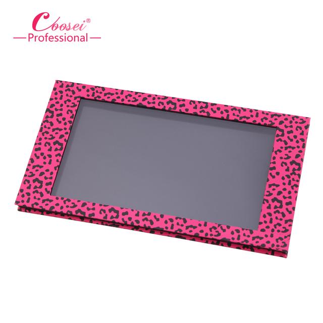 Magnética Empty Eyeshadow Palette, Big Pink Leopard Profesional de Maquillaje Caja De Almacenamiento de BRICOLAJE, sartenes de relleno 18*36mm