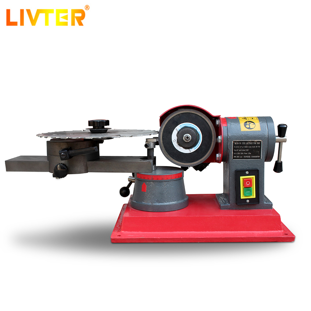 LIVTER 220V Round Carbide Saw Blade Grinder Mill Sharpener Alloy Saw Blade Rotary Angle Grinder Tool Manual Wood Working Machine
