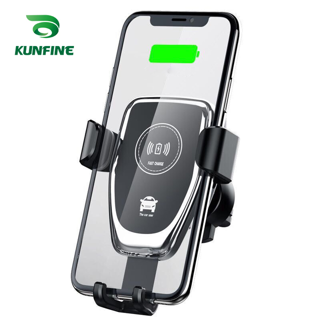 Car Mobile Phones Holder Car Mount Qi Wireless Charger For iPhone X 8 Plus Flash Charge Wireless Charging Pad Car Holder Stand