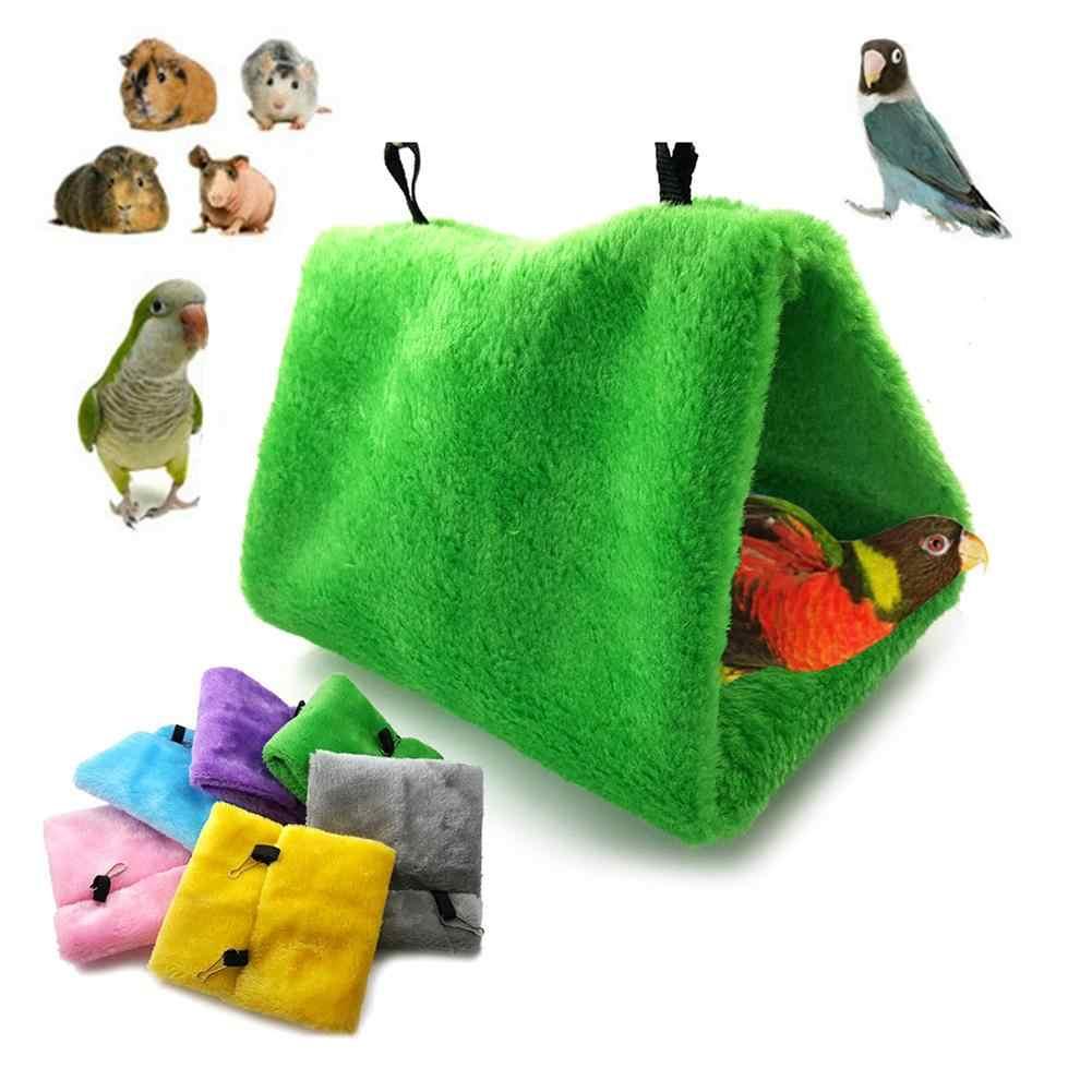 Птица Попугай треугольной формы клетка дом подвесное гнездо кровать-гамак теплые товары для домашних животных