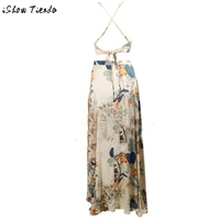 Women-Clothing-Set-Summer-Bohemia-Floral-Printing-Halter-Backless-Lacing-Up-Toplong-Skirt-Outfit-Set-2712-2