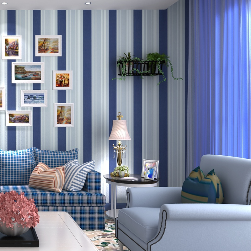 beibehang nonwoven wallpaper modern minimalist living room bedroom Mediterranean blue and white vertical striped wallpaper 1 beibehang shop for living room bedroom mediterranean wallpaper stripes wallpaper minimalist vertical stripes flocked wallpaper