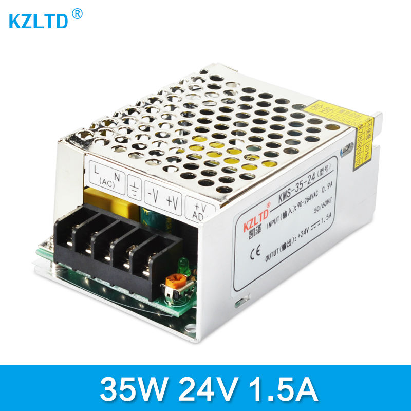 LED Transformer 24V 35W AC DC Power Supply Adjustable 220V / 110V to 24V Charger Adapter for LED Strip LED Module Light  Monitor