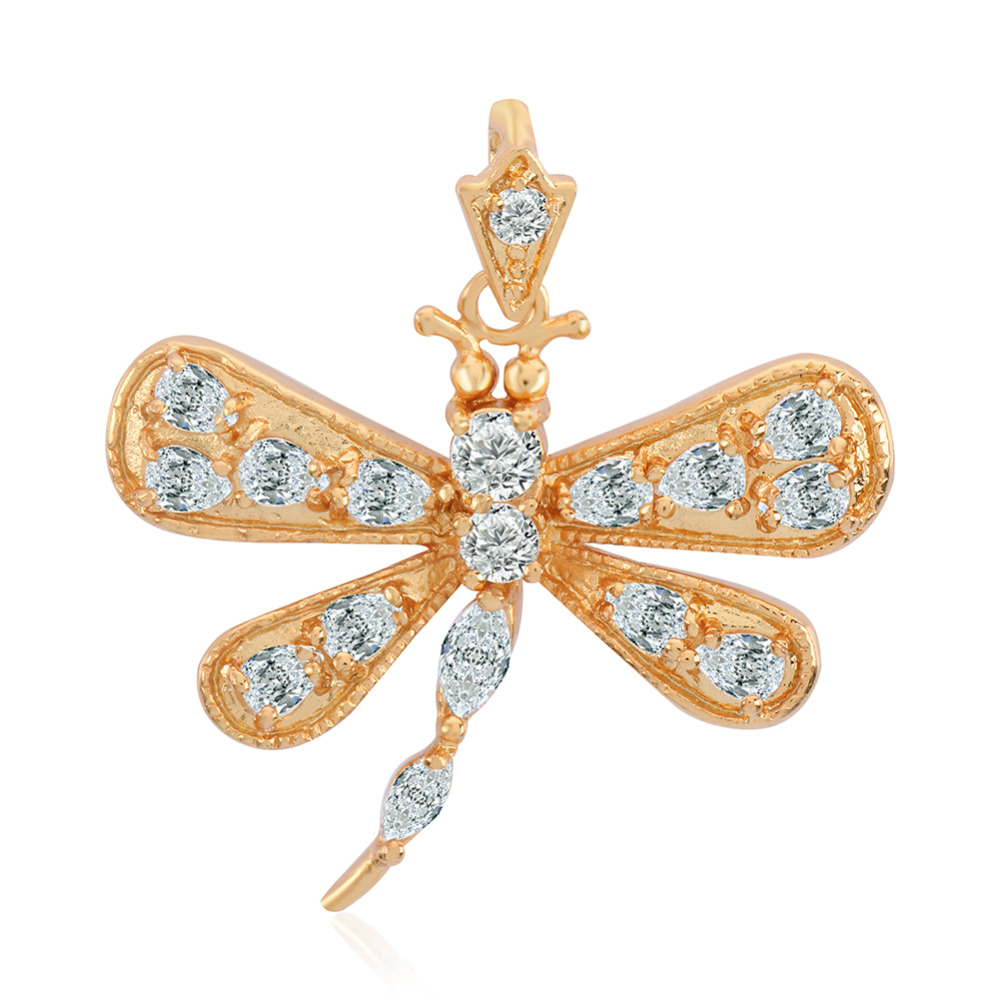 Fashion dragonfly charm pendant for necklace bracelet Gold-plated Women's Jewelry Accessories Free Shipping