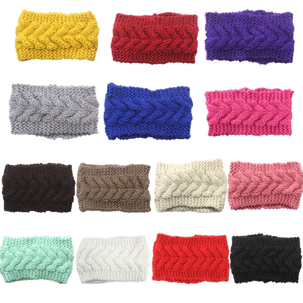 1 unid diadema de punto para mujeres venda del ganchillo del knit de ...