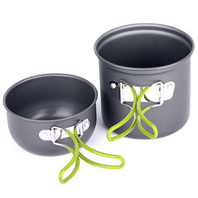 Non-stick Pots Pans Bowls Portable Outdoor Camping Hiking Cooking Set Cookware Outdoor Accessories Practical