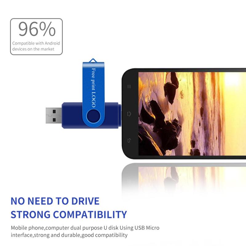 Pen Drive 128gb Memory Stick 64gb 8gb 4gb Metal OTG Pendrive 16gb Metal Usb Flash Drive 32gb Double Application Free Custom Logo (7)