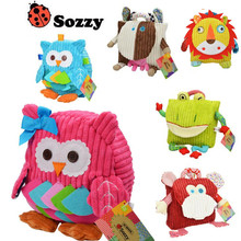 Sozzy 5 Styles cute cartoon Children Packing Food Picnic Bags kindergarten  plush backpack bag kid School Bags 10% off
