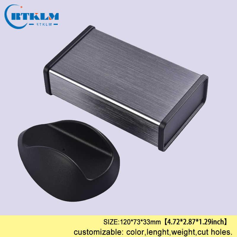 Alüminyum proje kutusu alüminyum muhafaza bağlantı kutusu DIY amplifikatör muhafaza güç kaynağı alet çantası 120*73*33mm