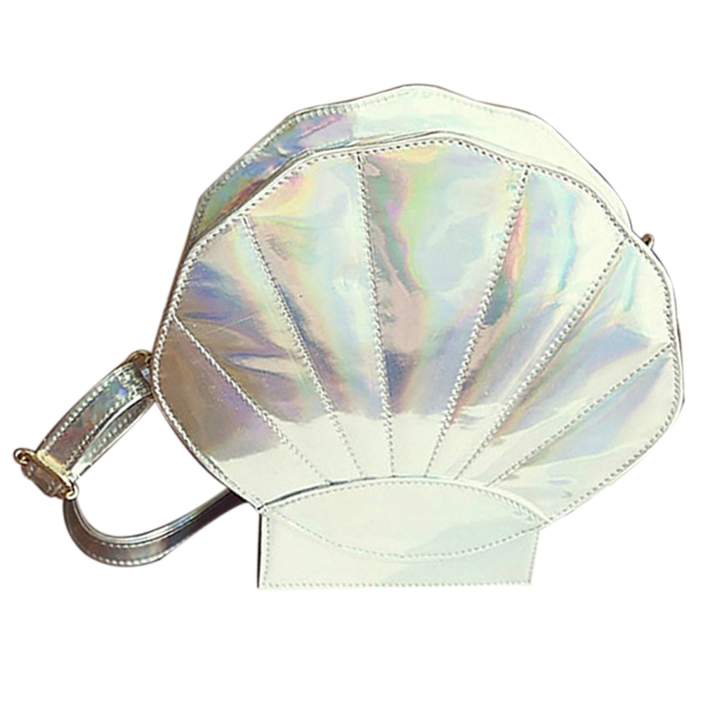 5pcs of  Women's Girls' Pearl Shell Laser Cross Body Sweet Messenger Handbag Shoulder BagColor:Silver environmentally friendly pvc inflatable shell water floating row of a variety of swimming pearl shell swimming ring
