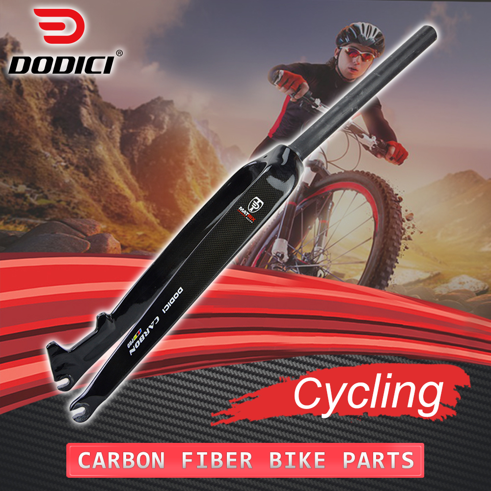 DODICI Pro MTB Carbon <font><b>Fork</b></font> Mountain Bike Carbon Fibre <font><b>Bicycle</b></font> Disc Brake Hard Front <font><b>Fork</b></font> <font><b>Fork</b></font> 1-1/8 26er <font><b>27.5</b></font> 29