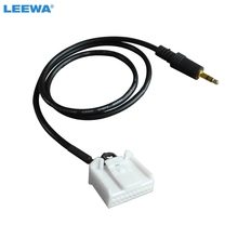 LEEWA 1PCS Car 3.5mm Audio AUX 20PIN Wire Adapter Input Wire Cable For Toyota Camry Corolla Reiz RAV4 Highlander  #CA3231