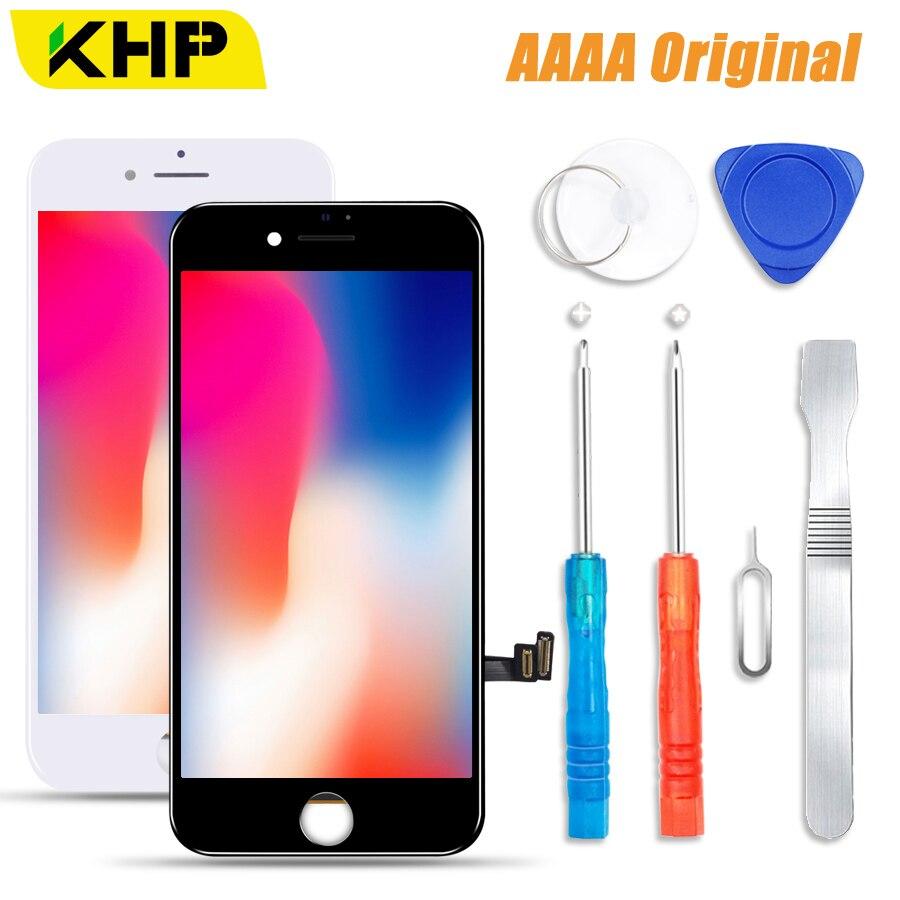 100% KHP 2018 AAAA pantalla LCD Original para iPhone 7 Plus pantalla LCD pantalla digitalizador módulo táctil 7 pantallas reemplazo LCDS