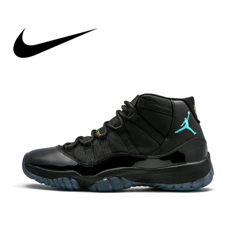 Official Original Nike Air Jordan 11 Retro Win Like 96 Men's Basketball Shoes Wear Resistant Sneakers Classic Non slip Footwear