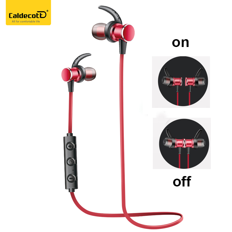 Caldecott Bluetooth Earphone Sport Running With Mic In-Ear Wireless Earphones Bass Bluetooth Headset For iPhone Xiaomi MP3