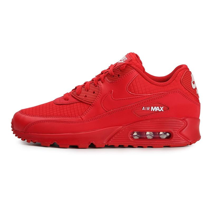 Nouveauté originale 2019 NIKE AIR MAX 90 essentiel chaussures de course pour femmes baskets respirantes Massage réponse coussin r rouge
