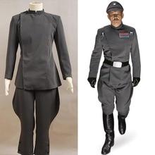 Star Wars Imperial oficial gris traje uniforme conjunto completo Cosplay  disfraz para Halloween fiesta hombre Top y pantalones h. bdefcab9e93e