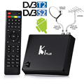 S905 Android 5.1 + DVB-T2 Terrestre + DVB-S2 Receptor de Satélite HD FTA IPTV Combo Convertidor KODI H.265 4 K TV caja