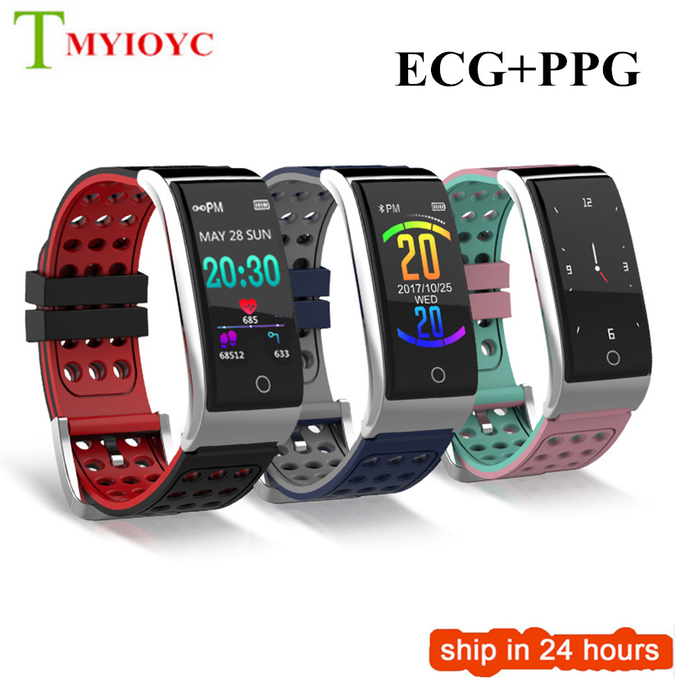 Colorful Screen Fitness Tracker Smart Wristband Heart Rate Blood Pressure Monitor Smart Band Watch ECG/PPG IP67 Smart Bracelet