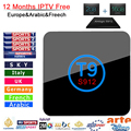 S912 T9 Android Tv Box e 1 Ano IPTV Amlogic 2G/16G Android 6.0 Tv Box Dupla WiFi Set Top Box TV UHD 4 K 2 K Europa Árabe IPTV