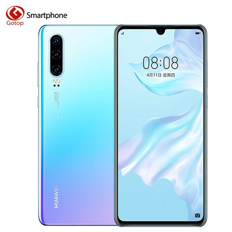 Huawei P30 6.1 pouces OLED FHD + écran Smartphone Kirin 980 Octa Core EMUI 9.1 40MP quatre caméras AI 8GB RAM 128GB ROM téléphone Mobile