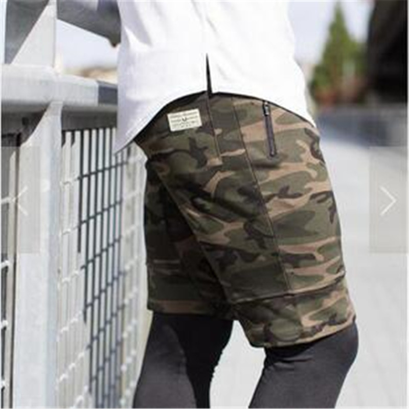 Cheap Sales 2017 Summer New fashion mens Shorts polyester military camouflage Men casual Shorts solid color beach Free shipping