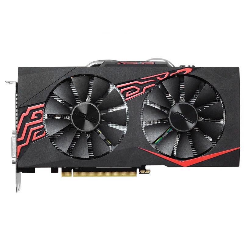 Utilisé, ASUS GeForce GTX1070 8 GB GPU GDDR5 256bit PCI-E ordinateur de jeu vidéo carte graphique pour PC PUBG