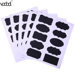 50Pcs/Set Chalkboard Blackboard Sticker Craft Kitchen Jar Organizer Windows Cup Can Storage PVC Memo Lables Office Stationery