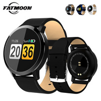 FATMOON Q8 Smart Bracelet 1.3'' Round Bluetooth Passometer Fitness Heart Rate Tracker Camera Smart Wristband Watch Waterproof