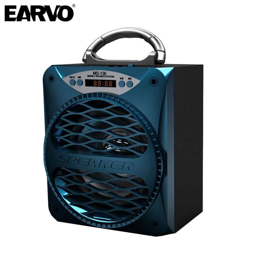 MS-136BT Wireless Bluetooth Powerful 15w Outdoor Portable LED Light Speaker Subwoofer Super Bass Music Speakers BoomBox TF Radio